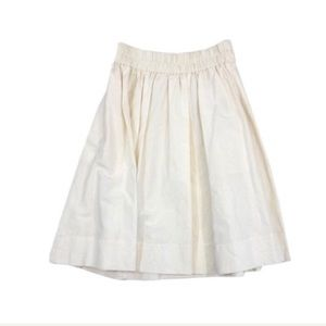 Marc Jacobs Ivory Midi Skirt